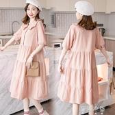 (免運)2020新款孕婦裝上衣寬鬆孕婦洋裝夏天可哺乳裙子