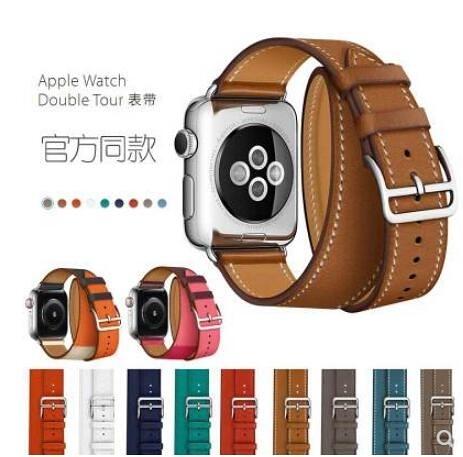 apple watch4愛馬仕蘋果手錶帶潮iwatch1/2/3代女38/42mm雙圈 遇見生活