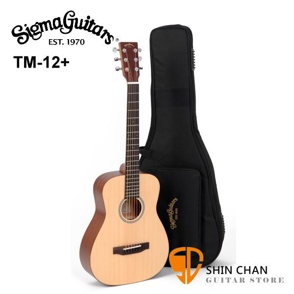 Sigma 吉他 Sigma木吉他 TM12+ 新款 34吋 小吉他/旅行吉他(TM12雲杉面單)附贈  吉他袋