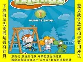 二手書博民逛書店英國Pearson兒童英語罕見Islands 1級-6級 24張