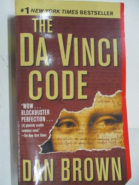 【書寶二手書T9/原文小說_ALP】The Da Vinci Code_Dan Brown