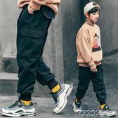 兒童褲子 童裝男童休閒褲冬裝新款兒童洋氣保暖加絨加厚工裝褲中大童潮 coco衣巷
