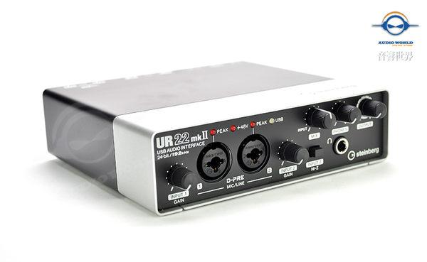 【音響世界】新款二代UR22 MKII 2X2 USB2.0錄音介面/錄音卡》可接iPad》加贈Cubase LE軟體