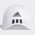 ADIDAS 3-STRIPES 帽子 老帽 休閒 三條線 基本款 白【運動世界】FQ5411