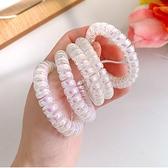 韓國ins可愛人魚色電話圈髮圈髮繩少女心夢幻橡皮筋透明鐳射頭繩 88605