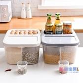 米桶儲米箱家用分格收納防潮20 斤米缸密封面粉桶裝米桶儲米箱10kgJY 【聖誕  】