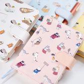 【04015】認真貓記事本 PU皮封面 隨身冊 一本約128張 筆記本