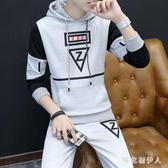 套頭男運動套裝秋冬季休閒套裝裝男士衛衣搭配衣服一套帥氣兩件套 PA11140『棉花糖伊人』
