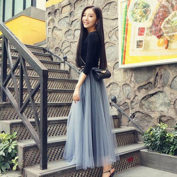 週年慶優惠-網紗裙 半身裙 蓬蓬裙 高腰裙子