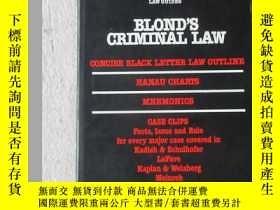 二手書博民逛書店Criminal罕見Law (BLOND S LAW GUIDE