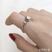 純銀圓珠戒指女時尚個性韓版小眾設計網紅復古食指銀飾戒子冷淡風 安妮塔小舖