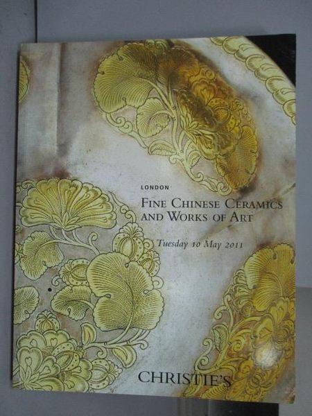 【書寶二手書T3/收藏_PET】Christie s_Fine Chinese Ceramics…2011/5/10