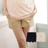 愛天使孕婦裝【92195】波浪剪裁 舒適短褲 孕婦褲(可調腰圍)