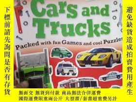 二手書博民逛書店Sticker罕見Activity Book Cars and