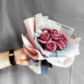 創意韓式香皂花手捧花玫瑰情人節生日禮物女生閨蜜畢業禮品小清新     西城故事