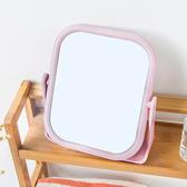 ◄ 家 ►【Q25 】雙面旋轉梳妝鏡方形圓形台式小鏡子簡約化妝便攜公主鏡360 °旋轉