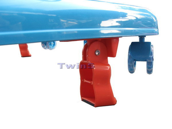 【TwinS伯澄】vivibaby-(台灣製)豪華嬰兒學步車(螃蟹車)【藍橘色】送平面防撞條