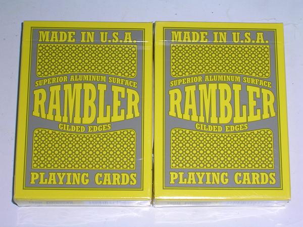 【USPCC撲克館】美國進口 RAMBLER 金邊撲克牌 黑封標