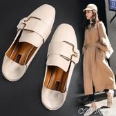 特惠單鞋豆豆鞋女新款春季網紅平底鞋小皮鞋一腳蹬英倫風單鞋女秋交換禮物