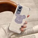 適用于vivoX60手機殼X60Pro立體菱格60P小香風Por創意卡通【輕派工作室】