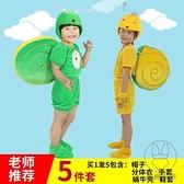 兒童動物綠蝸牛的夢想舞蹈幼稚園少兒學生卡通演出服表演服裝【貼身日記】
