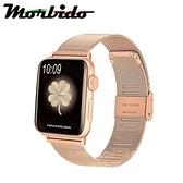 蒙彼多 Apple Watch 44mm不鏽鋼編織卡扣式錶帶 玫瑰金