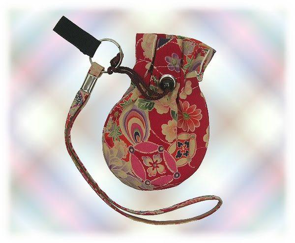 【波克貓哈日網】日本銀髮族商品  ◇柺杖手環套◇紅色《附和風小錢包》年長者保護商品