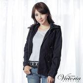 Victoria 休閒棉水洗薄外套-女-軍綠