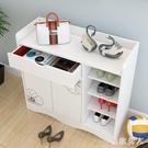 簡易鞋櫃收納大容量經濟型門口玄關簡約現代家用仿實木鞋架省空間 LJ5301【極致男人】