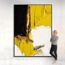 手繪油畫客廳沙發掛畫立體黑白橙抽象畫裝飾畫現代輕奢玄關背景牆 QM 依凡卡時尚