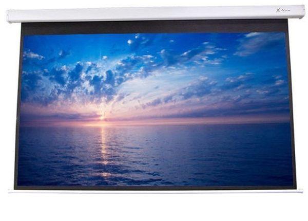 【名展音響】100吋16:9遙控線控電動布幕(上黑60cm,四角).另有億立PVMAX100UWH2-E30