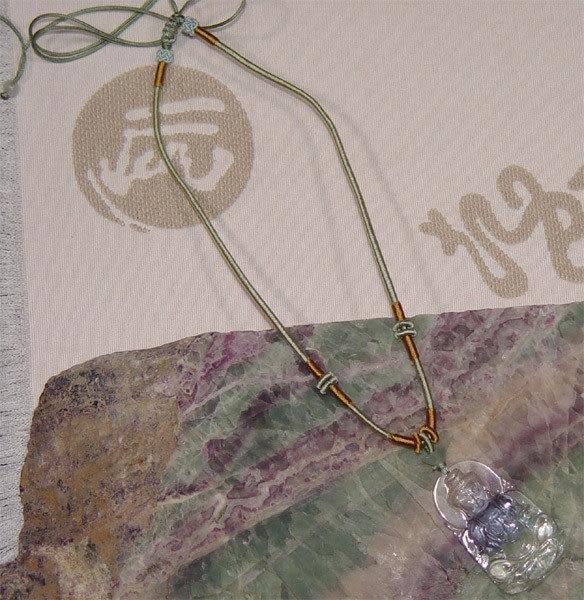 鹿港窯~開運古法水晶琉璃雕項鍊~佛祖如來◆附精美包裝◆免運費送到家