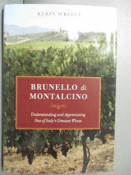 【書寶二手書T3/餐飲_QLO】Brunello di Montalcino: Understanding and Ap