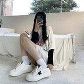 帆布鞋 女鞋百搭韓版學生ins潮ulzzang休閒運動新款白色低筒帆布鞋 格蘭小舖