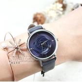 NAFISA 西班牙品牌 日本機芯 立體花朵皮革手錶 女錶 防水手錶 學生 深藍x灰 NA1061灰【時間玩家】