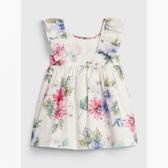 Gap女嬰活力花卉荷葉邊飾連衣裙543973-淡粉色