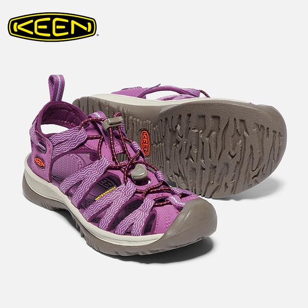 KEEN 女款 織帶涼鞋Whisper 1018229 / 城市綠洲 (水陸兩用、輕量、戶外休閒鞋、運動涼鞋)