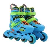 新款可調節兒童單排換雙排互換平花鞋