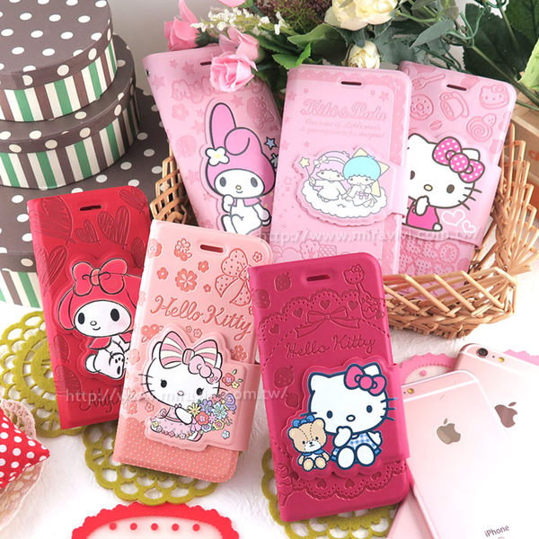 【Sanrio  】iPhone 6 Plus/6s Plus 彩繪皮革筆記本式皮套-KITTY/MELODY/KIKILALA
