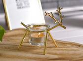 北歐圣誕玻璃燭台 婚慶浪漫燭光晚餐 酒吧ktv聚會 燭台擺台 露露日記