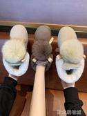 毛毛雪地靴女短筒百搭時尚網紅厚底短靴冬季加絨棉鞋女潮 新北購物城