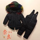 兒童羽絨服外套套裝女童套裝男童裝女嬰兒幼兒款【奈良優品】