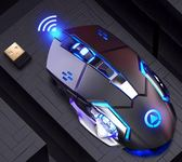 無聲靜音可充電式無線滑鼠筆記本臺式電腦家用辦公鋰電池gogo購