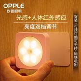 小夜燈 小夜燈LED光控人體感應燈床頭燈臥室聲控智能自動起夜過道 晶彩生活