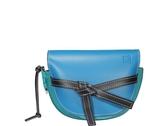 ■專櫃66折■ Loewe 全新真品 馬鞍型小款 Gate 小牛皮 緞帶斜背包 藍色系