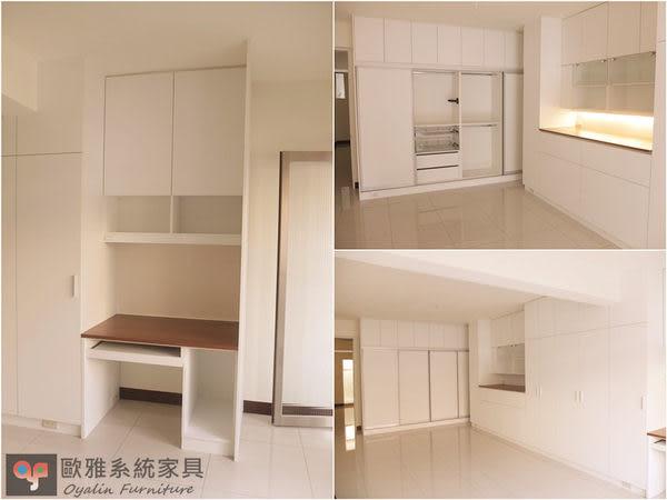 【歐雅系統家具】結合衣櫥櫃化妝櫃床頭櫃 全室規劃