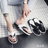 夏季韓版時尚百搭涼拖鞋潮流個性人字拖沙灘鞋男防滑涼鞋男cp1117【野之旅】