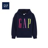 Gap女童Logo連帽套頭休閒上衣499168-海軍藍色