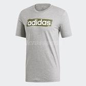 adidas T恤 E LIN Brush T 男款 短T 短袖 上衣 運動 灰 綠迷彩 【ACS】 DV3051