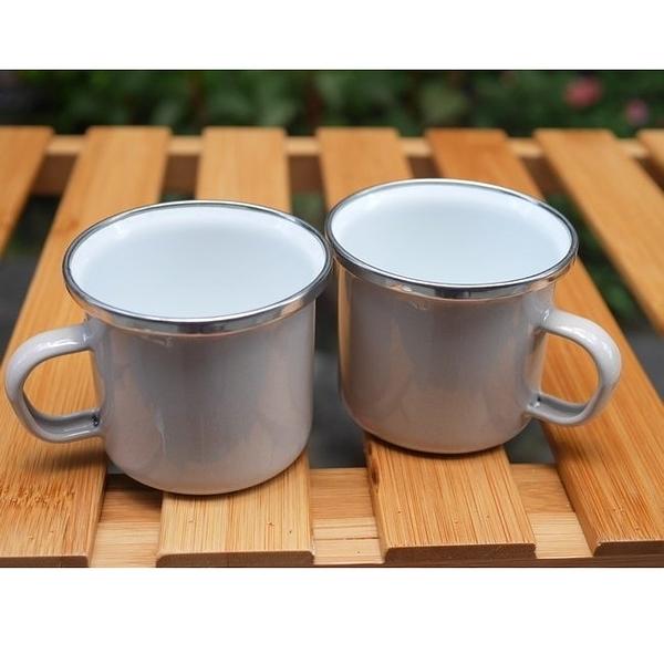 Wind & Whisper 南洋琺瑯 咖啡雙杯組(白沙)